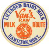 #DC042 - Early Van's Raw Milk Cap Picturing Cow
