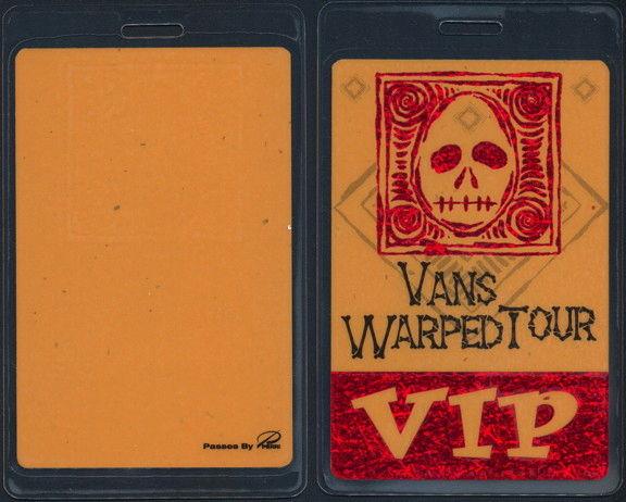##MUSICBP0494 - 1999 Vans Warped Tour Perri VIP Laminated Backstage Pass