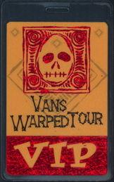 ##MUSICBP0494 - 1999 Vans Warped Tour Perri Laminated Backstage Pass