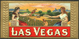 #ZLSC110 - Las Vegas Box End Cigar Label