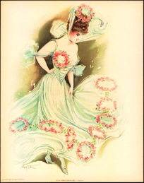 #MS158 - 1907 Victorian Print - New York Show Girl at Daly's