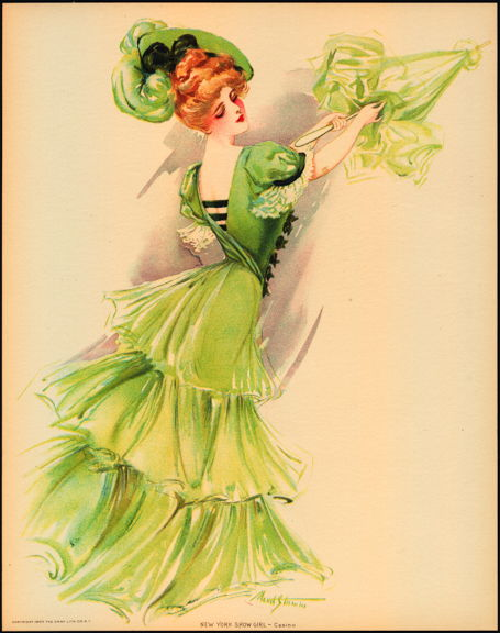 #MS163 - 1907 Victorian Print - New York Show Girl - Casino