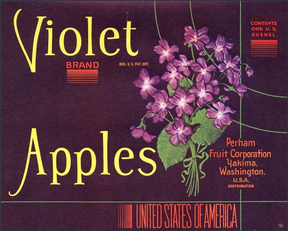 #ZLC304 - Violet Brand Apples Crate Label