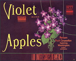 #ZLC304 - Violet Brand Apples Crate Label