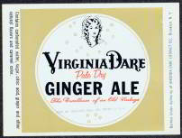 #ZLS078 - Virginia Dare Pale Dry Ginger Ale Label