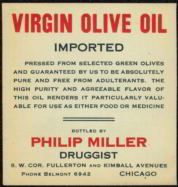 #ZBOT076- Virgin Olive Oil Medicine Bottle Label