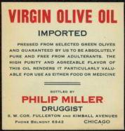 #ZBOT076- Virgin Olive Oil Medicine Bottle Label
