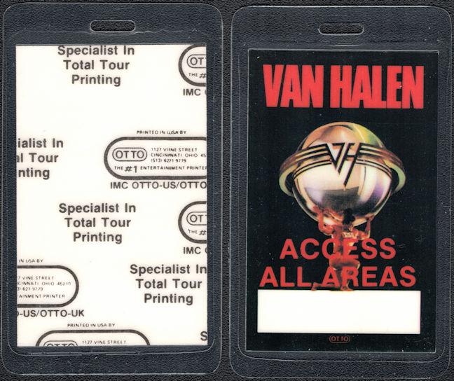 ##MUSICBP0229  - Van Halen 1986 5150 Tour Laminated Backstage Pass