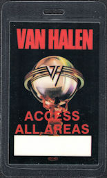 ##MUSICBP0229  - Van Halen 1986 5150 Tour Laminated Backstage Pass