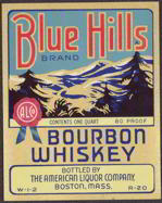 #ZLW103 - Blue Hills Bourbon Whiskey Label