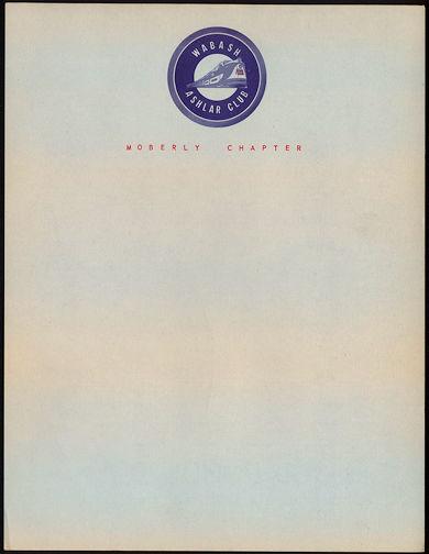 #CA104 - Wabash (Railroad) Ashlar Club Letterhead - As low as 40¢ each
