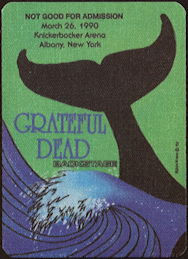 ##MUSICBP0486 - Grateful Dead Cloth OTTO Backstage Pass - Whale's Tail Theme