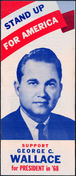 #PL348 - George Wallace Stand Up for America Brochure