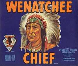 #ZLC001 - Wenatchee Chief Apple Crate Label