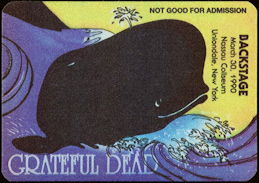 ##MUSICBP0485 - Grateful Dead Cloth OTTO Backstage Pass - Whale Theme