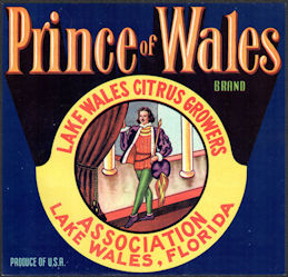 #ZLSH012 - Group of 12 Prince of Wales Citrus Crate Labels