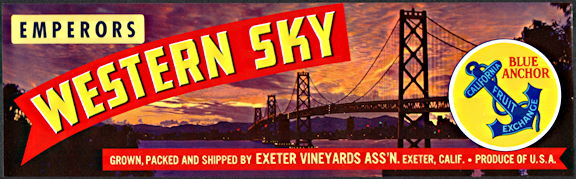 #ZLSG095 - Western Sky Emperors Grape Crate Label