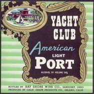#ZLW112 - Yacht Club American Port Wine Label