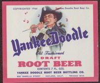 #ZLS114 - Yankee Doodle Draft Root Beer Label