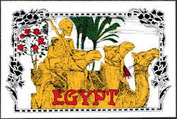 ##MUSICBP2045 - Large Grateful Dead Car Window Tour Sticker/Decal - Egypt Tour - Yellow Version