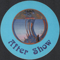 ##MUSICBP0723  - YES OTTO Cloth Backstage Pass from the 1991 Union Tour - Blue Version